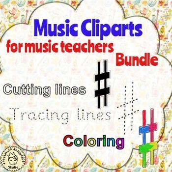 Music Cliparts for music teachers bundle