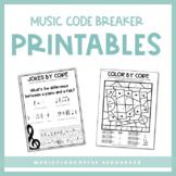 Music Code Breakers NO PREP | Printables