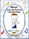 Music Math Color by Number Worksheets Kindergarten Special Education Coloring