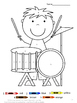 Color by Number Code Music Coloring Pages