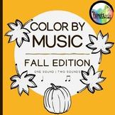 Music Color By Sounds: Fall Edition (one sound, two sounds)