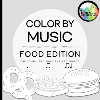 Music Color By Sounds: Food Edition (one sound, two sounds, three sounds)