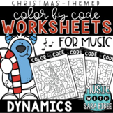 Music Color by Code - Dynamics {Christmas Theme}
