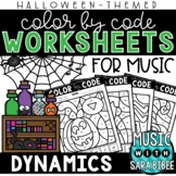 Music Color by Code - Dynamics {Halloween Theme}