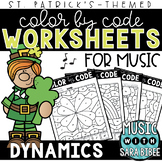 Music Color by Code - Dynamics {St. Patrick's Day Theme}