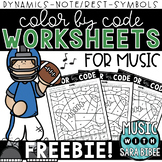 Music Color by Code - Football Theme {FREEBIE}