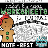 Music Color by Code - Notes/Rests {Christmas Theme}