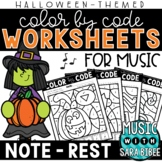 Music Color by Code - Notes/Rests {Halloween Theme}