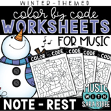 Music Color by Code - Notes/Rests {Winter Theme}