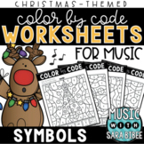 Music Color by Code - Symbols {Christmas Theme}