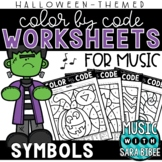 Music Color by Code - Symbols {Halloween Theme}