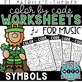 Music Color by Code - Symbols {St. Patrick's Day Theme}