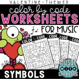 Music Color by Code - Symbols {Valentine Theme}