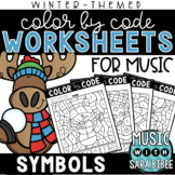 Music Color by Code - Symbols {Winter Theme}
