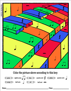 Music Color by Note: Half Notes