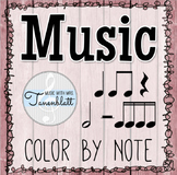 Music Color by Note: Sixteenth Notes