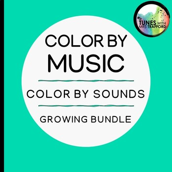 Music Color by Sound: GROWING BUNDLE (one sound, two sounds, three sounds)