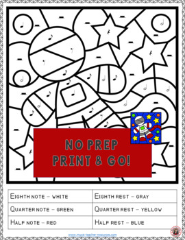 Music Coloring Pages: 15 SPACE Themed Music Coloring Sheets