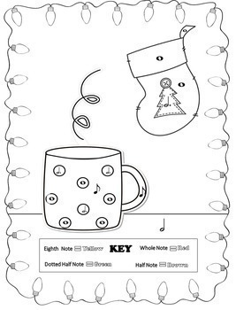 Music Coloring Pages (Christmas)