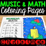 Christmas Music Activities (16 Christmas Music Coloring Sheets)