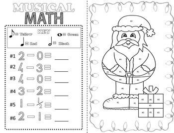 Christmas Music Activities (16 Christmas Music Coloring Sheets)