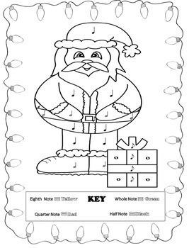 Christmas Music Coloring Sheets (16 Christmas Music Activities)