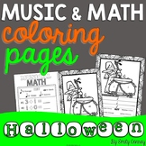 Music Coloring Pages (16 Halloween Music Coloring Sheets)