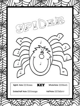 free halloween music coloring pages | Music Coloring Pages (16 Halloween Music Coloring Sheets ...