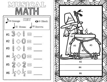 free halloween music coloring pages | Halloween Music Coloring Sheets (16 Halloween Music ...