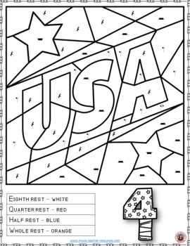 4th of July Music Coloring Pages