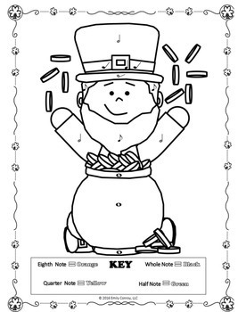 Music Coloring Pages (St. Patrick's Day)