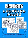 Music Coloring Pages: Stick and Regular Notation