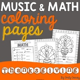 Thanksgiving Music Coloring Sheets (16 Thanksgiving Music Activities)