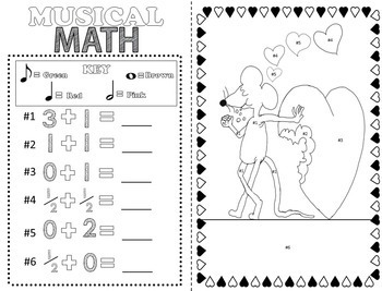 Music Coloring Pages (Valentine's Day)