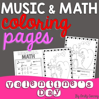 Valentine's Day Music Coloring Pages (16 Valentine's Day Music Activities)
