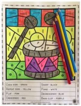 Music Coloring Sheets: 26 Music Symbols Coloring Pages