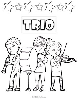 Music Coloring Sheets-Classical Theme