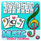Music Coloring Pages (Music Notes)