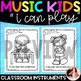 "Music Coloring Sheets {Music Kids ""I Can Play"" Instruments}"