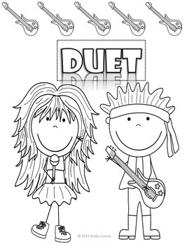 Music Coloring Sheets-Rock Theme