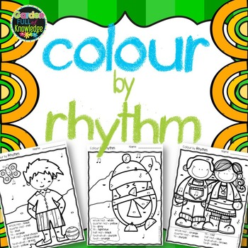 Music Notes - Colour by Rhythm - Ta, Titi, Rest, Ta-ah