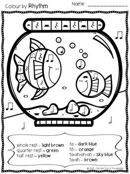 Music Notes Colour by Rhythm