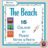 Music Colouring Pages: 15 BEACH Themed Music Colouring Sheets