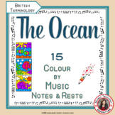 Music Colouring Pages: 15 OCEAN Themed Music Colouring Sheets