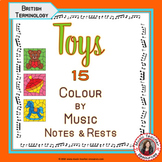 Music Colouring Pages: 15 TOY Themed Music Colouring Sheets