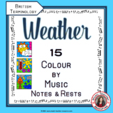 Music Colouring Pages: 15 WEATHER themed Music Colouring Sheets