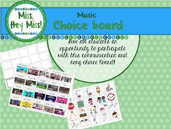 Music Communication choice board