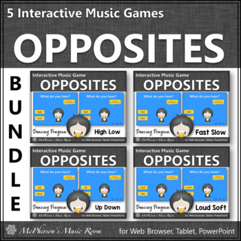 Music Comparatives: Bundle of Interactive Music Games {Dancing Penguin}