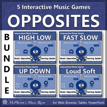 Music Comparatives: Bundle of Interactive Music Games {Dancing Spider}