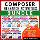 Music Composer: 12 Music Composer Studies and Worksheets BUNDLE